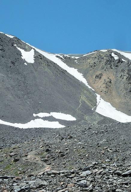 Paso de montaña a 3800m. de altitud. No sé si se aprecia en la foto, pero además de la nieve era realmente escarpado (steepy, en inglés).